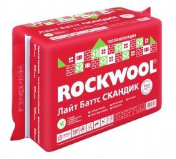 Базальтовый утеплитель Rockwool Лайт Баттс Скандик 800х600х100 мм / 6 шт.