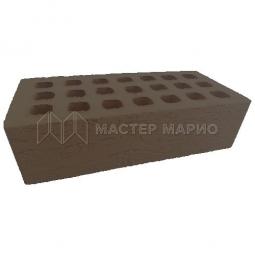 Кирпич лицевой керамический «Коричневый» «Рельеф» пустотелый утолщенный М125