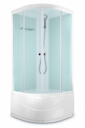 Душевая кабина Domani Spa Delight 99 high 900х900х2180 сатин матированное стекло, белая панель, Б/Э
