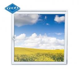 Окно ПВХ Veka 600х600 мм одностворчатое О 2 стеклопакет