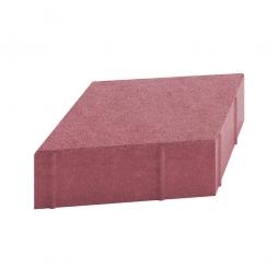 Плитка тротуарная Ромб Гладкий Вибролитая 190х330х50 Красная