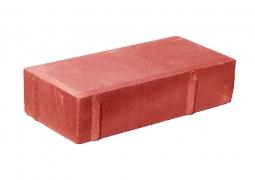 Плитка тротуарная Кирпичик Вибропрессованная 200х100х70 Красная