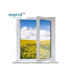Окно ПВХ Exprof 600х600 мм одностворчатое ПО 2 стеклопакет