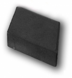 Плитка тротуарная Ромб Гладкий Вибролитая 190х330х50 Черная