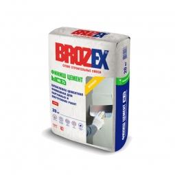 Шпатлевка Brozex Финиш Цемент WR-75 цементная белая 4 кг