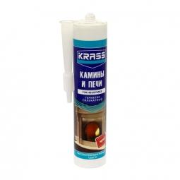 Герметик Krass Силикатный для каминов и печей силикатный черный, 300 мл