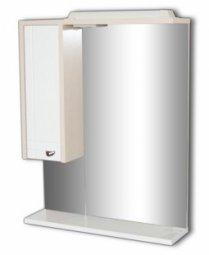 Шкаф-зеркало Домино Блик 55 Левый С Электрикой Светлый дуб