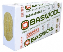 Минераловатный утеплитель Baswool Стандарт 50 1200х600х50 мм / 6 пл.