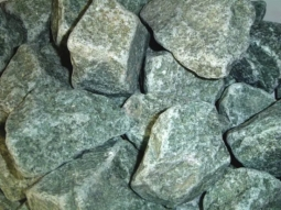 Камень для бани ХакасИнтерСервис Жадеит колотый средний ЗЖ, 10кг