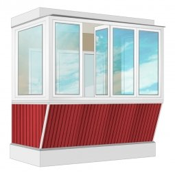Остекление балкона ПВХ Rehau с выносом и отделкой вагонкой с утеплением 2.4 м П-образное